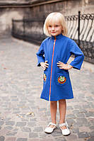 Детское кашемировое пальто з вышивкой