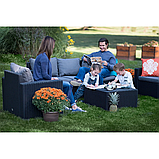 Столик садовый уличный Allibert by Keter California Rattan Outdoor Coffee Table Graphite ( графит ), фото 9