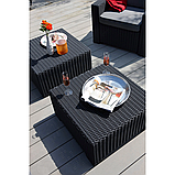 Столик садовий вуличний Allibert by Keter California Rattan Outdoor Coffee Table Graphite ( графіт ), фото 10
