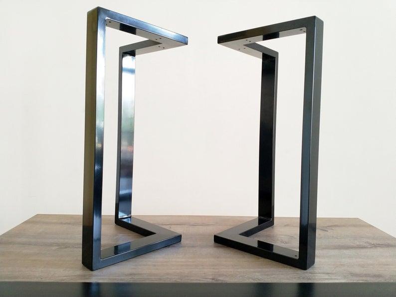 Металлические опоры для стола N45 ножки черный глянец