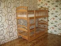 Двухъярусная кровать из ольхи детская