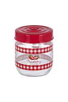 Банка стеклянная для хранения продуктов herevin strawberry 425 мл (171341-058)