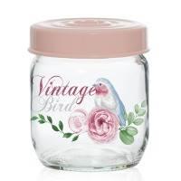 Банка стеклянная для хранения продуктов herevin vintage birds 425 мл (171341-050)