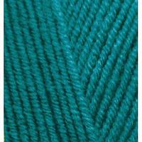 Пряжа для вязания Лана голд файн 640 бирюза