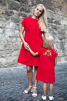 """Набір пальто """"Мати + Донька"""" з коротким рукавом"""