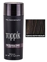 Кератиновый загуститель для волос Toppik (для маскировки залысин) 27,5г Темный шатен (Dark Brown)