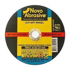 Круг отрезной 180х1,6х22,23 по металлу NovoAbrasive