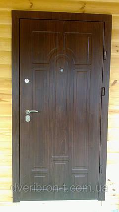 Входная дверь Форт Премиум Классик улица орех коньячный 860х2050, фото 2
