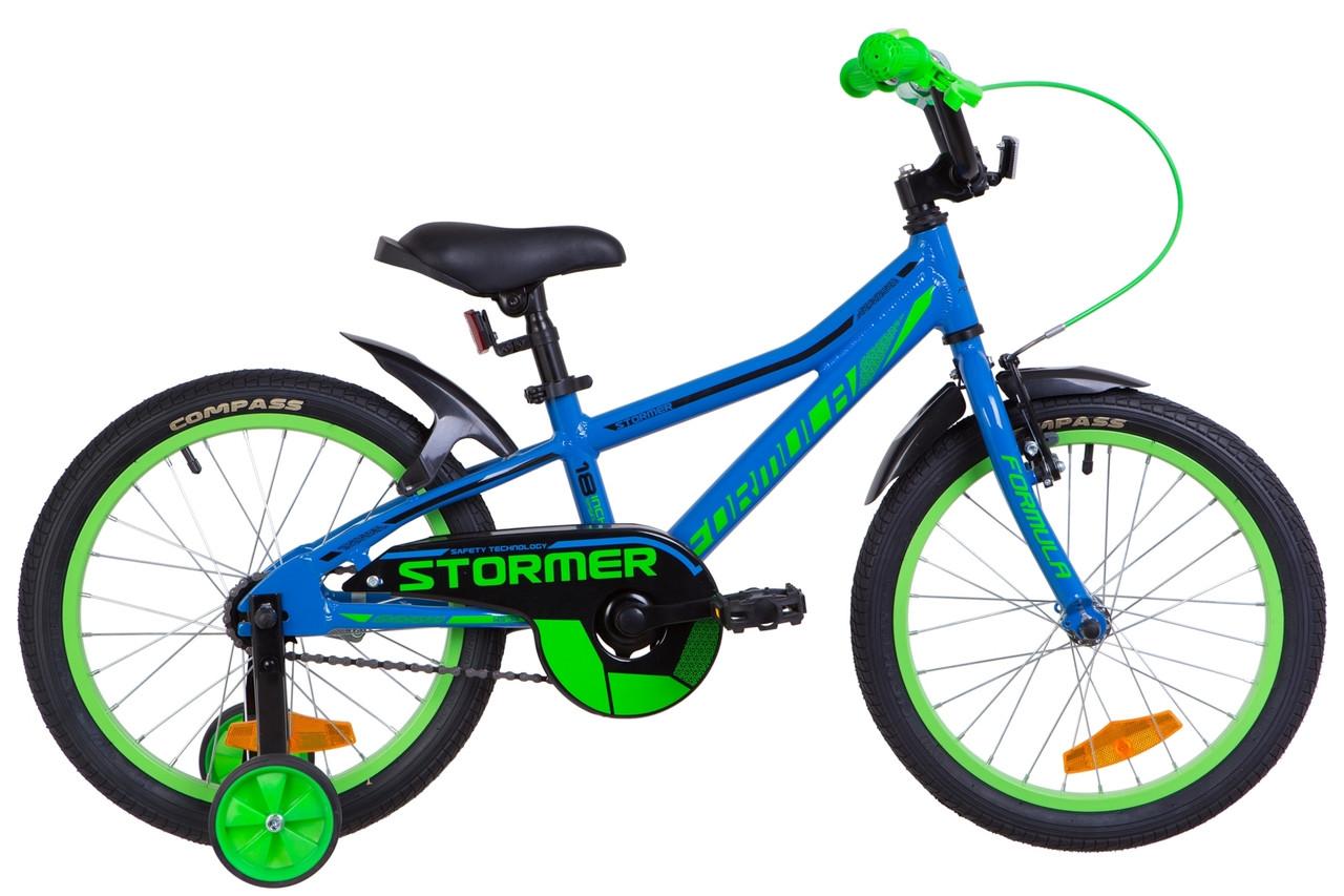 """Велосипед 18"""" Formula STORMER 14G Al с крылом Pl 2019 (черный (м))"""