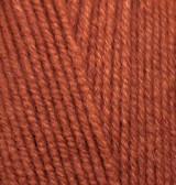 Пряжа для вязания Лана голд файн 91 кирпичный