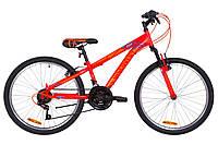 """Велосипед 24"""" Discovery RIDER AM 14G Vbr St 2019 (красно-оранжевый с синим (м))"""