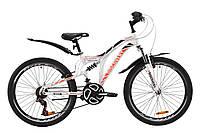 """Велосипед ST 24"""" Discovery ROCKET AM2 Vbr с крылом Pl 2020 (бело-оранжевый c черным)"""