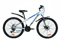 """Велосипед ST 26"""" Discovery TREK AM DD с крылом Pl 2020 (бело-черный с синим)"""
