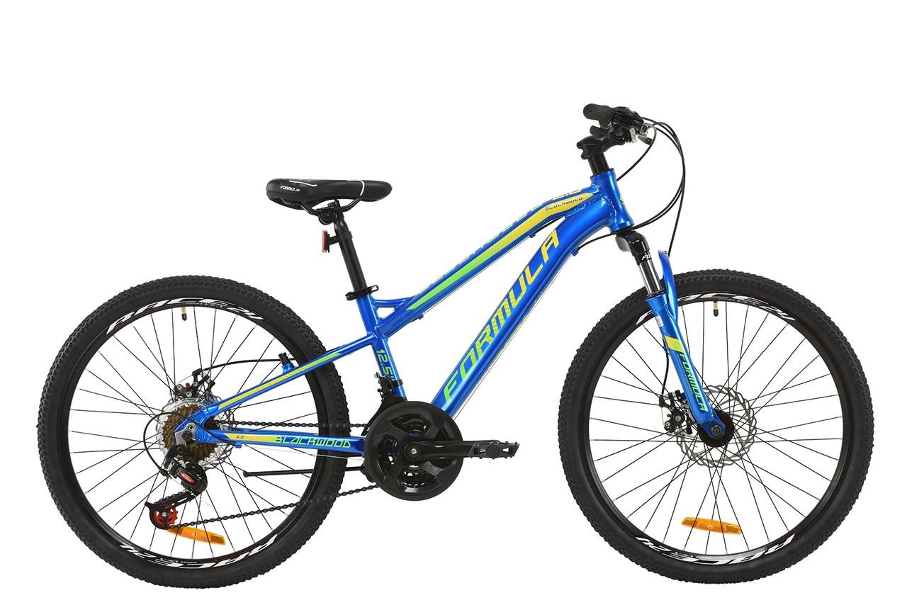 """Велосипед AL 24"""" Formula BLACKWOOD 2.0 AM DD 2020 (сине-желто-салатовый)"""