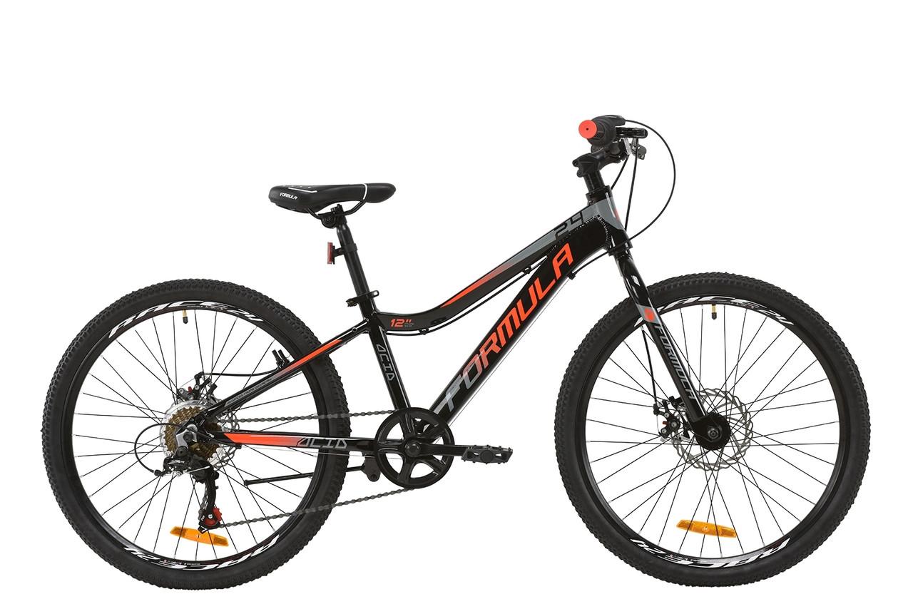 """Велосипед AL 24"""" Formula ACID 1.0 DD 2020 (черно-красный с серым)"""