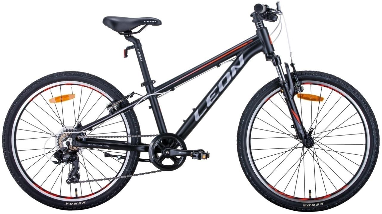 """Велосипед 24"""" Leon JUNIOR AM 2020 (черно-оранжевый с серым (м))"""