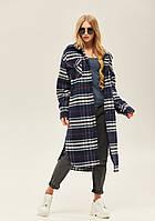 Модне жіноче пальто-сорочка в 2х кольорах ПВ-146