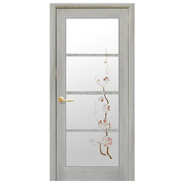 Межкомнатная дверь ВИКТОРИЯ ясень патина  600 мм