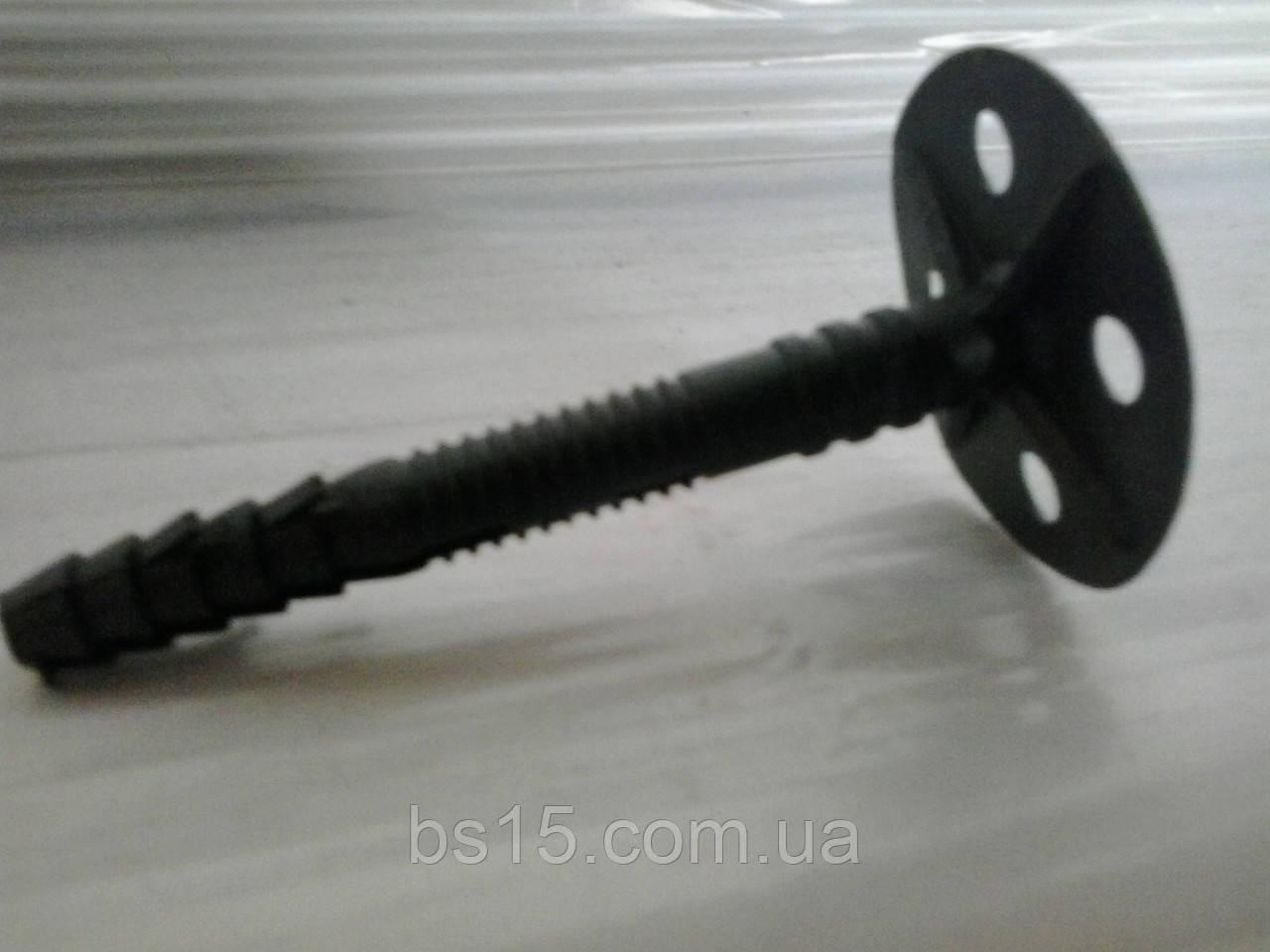 Дюбель зонтик 10х120 для крепления минеральной ваты с пластиковым гвоздём