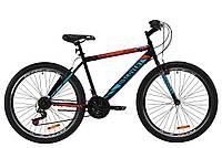 """Велосипед ST 26"""" Discovery ATTACK Vbr 2020 (черно-красный с бирюзовым (м))"""