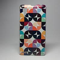 Чехол на Lenovo p780 панель накладка цветовой орнамент