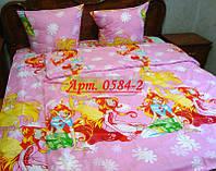 Детское постельное фея ВИНКС - большая, рисунок 3Д. Ткань бязь 0584-2