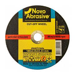 Круг отрезной 180х2,0х22,23 по металлу NovoAbrasive