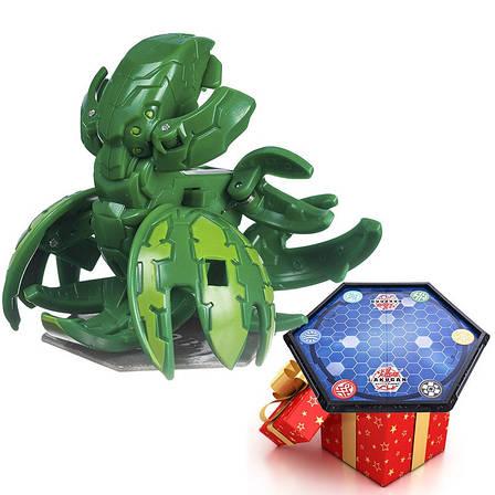 Бакуган Кракелиус зеленый + игровая арена Bakugan в подарок, фото 2