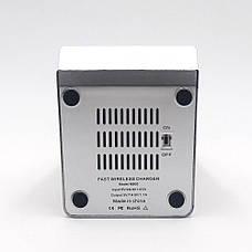 Беспроводная зарядка KERNER Серебро + Беспроводные сенсорные наушники inPods 12 Красные в ПОДАРОК, фото 2