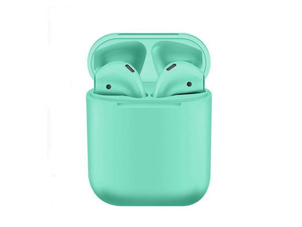 Беспроводные Bluetooth наушники inPods 12 зеленые + подарок монопод