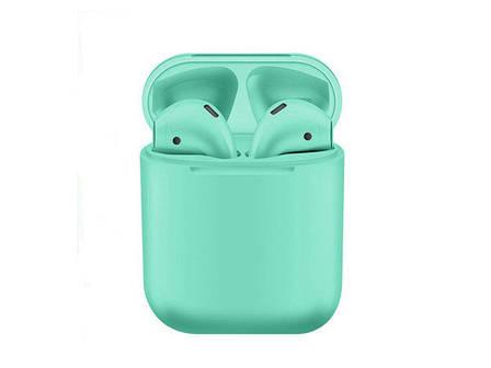 Беспроводные Bluetooth наушники inPods 12 зеленые + подарок монопод, фото 2