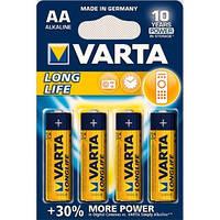 Батарейка Varta longlife aa alkaline 4шт, фото 1