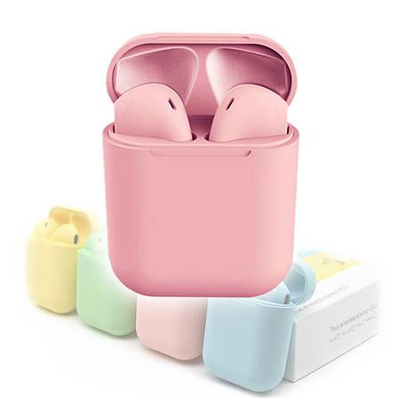 Беспроводные наушники inPods 12 pink gloss с сенсорным управлением, фото 2
