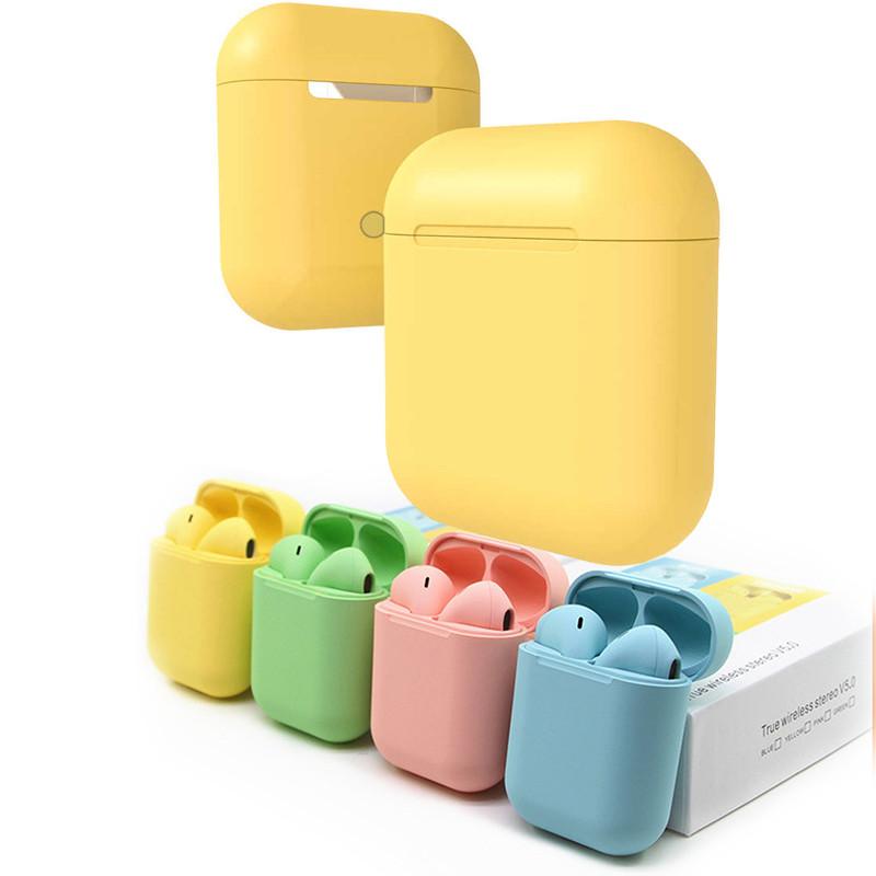 Беспроводные наушники inPods 12 yellow gloss с сенсорным управлением