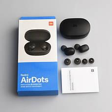 Беспроводные наушники Redmi Airdots Black + держатель для телефона в подарок, фото 3