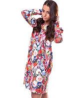 Яркое женское платье в цветы (S-L)