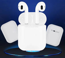 Беспроводные сенсорные наушники bluetooth inPods 12 белые + подарок крепление для смартфона, фото 2