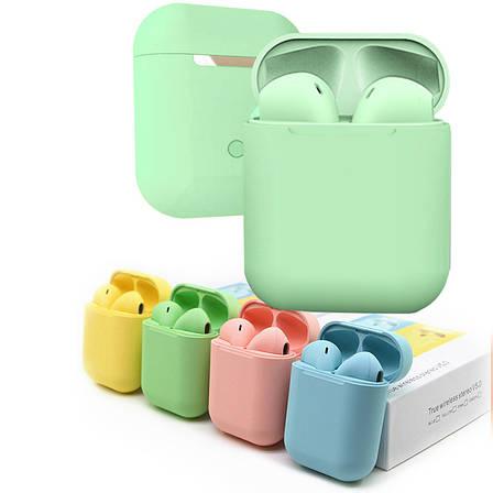 Беспроводные сенсорные наушники inPods 12 Зеленые, фото 2