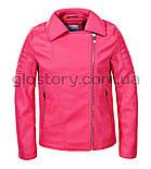 Розовая кожанка для девочки Glo-Story , фото 2