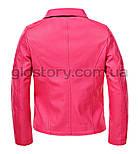 Розовая кожанка для девочки Glo-Story , фото 3