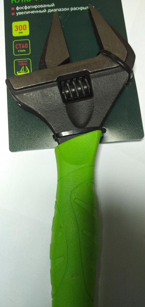 Ключ разводной Сибртех, тонкие губки, фосфатированый,300 мм