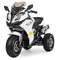 Детский мотоцикл BMW на аккумуляторе M 3913 EL-1 EVA колеса белый