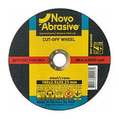 Круг отрезной 180х3,0х22,23 по металлу NovoAbrasive