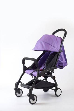 Коляска Yoya 175a+ фиолетовый оксфорд рама черная, фото 2
