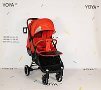 Коляска Yoya Plus Pro PREMIUM Красная, рама черная