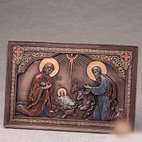 """Картина """"Рождение Иисуса"""" (23*15 см)"""