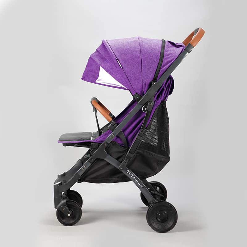 Коляска Yoya Plus Pro Фиолетовая, рама черная