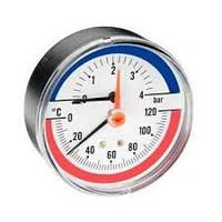 "Термоманометр Watts TIM 80 1/2"" для твердотопливных котлов"