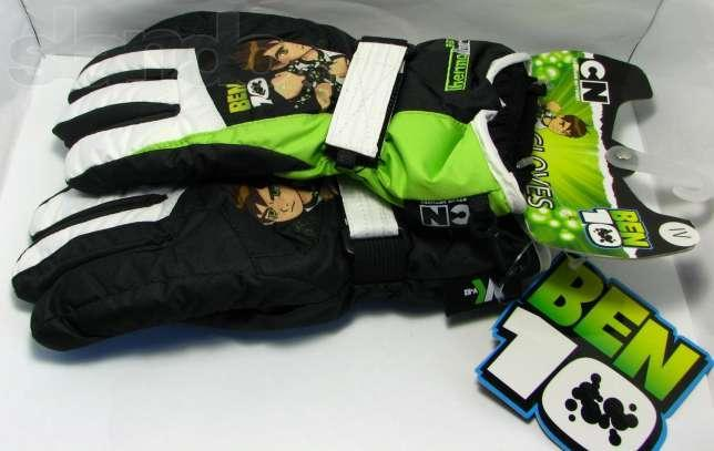 Гірськолижні рукавички(варіжки) Ben10 кол. чорний-зелений | розмір 4,5,6