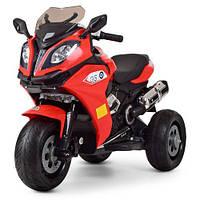 Детский мотоцикл BMW на аккумуляторе M 3913 EL-3 EVA колеса красный